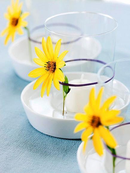 Bastelidee mit blumen für DIY teelichthalter