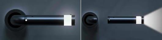moderner türgriff schwarz mit LED Beleuchtung