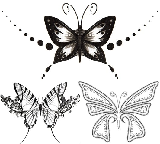 schmetterling tattoo ideen und vorlagen