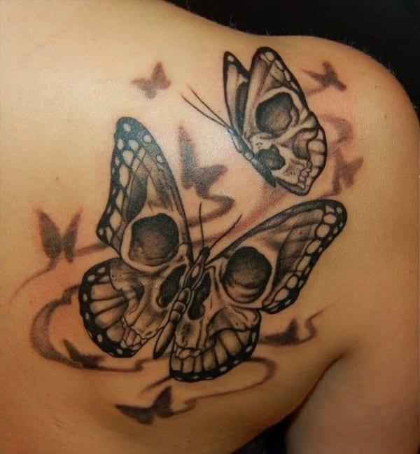 rücken schmetterling tattoo idee