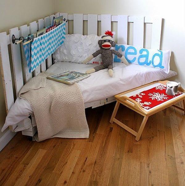 kinderzimmer gestalten mit DIY sofa aus Europaletten