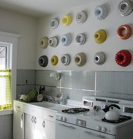 kleine küche wanddeko ideen