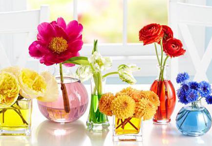 dekoideen frühling mit verschiedenen glasvasen und frühlingsblumen