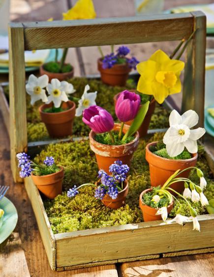 dekoidee Frühling für DIY Tischdeko frühling