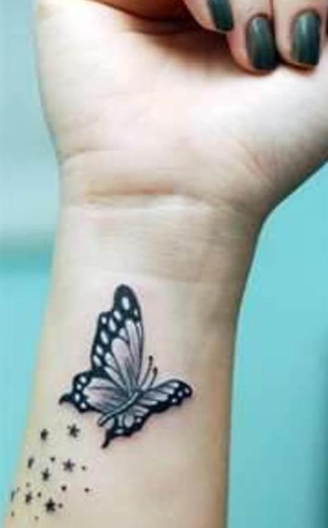 schmetterling tattoovorlage fürs handgelenk