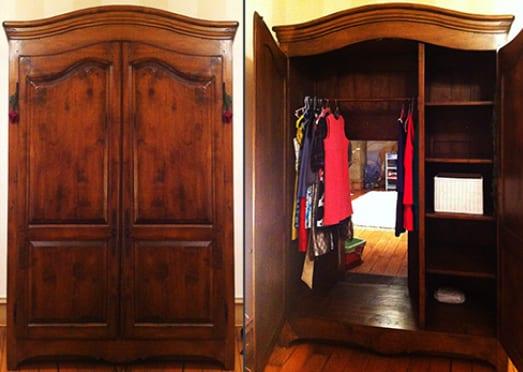 kinderzimmer idee mit Kleiderschrank als Geheimtür zum Kinderzimmer