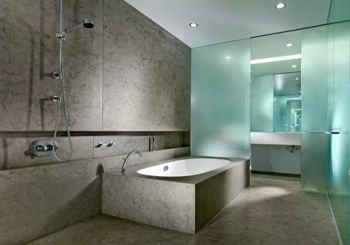luxus badezimmer ideen für badezimmer aus beton mit glasschibetür
