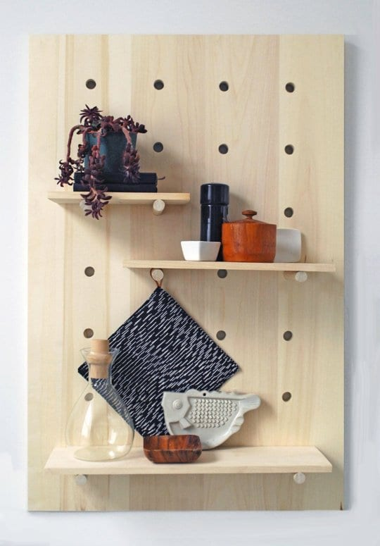 DIY Wandregal holz als idee zur wandgestaltung küche