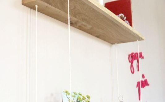 Ideen f r wandgestaltung wohnzimmer mit diy wandregal freshouse - Wandgestaltung diy ...