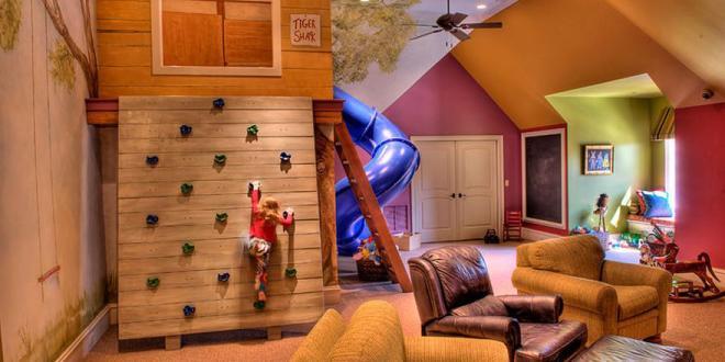 ideen fürs kinderzimmer dachschräge und kletterwand - freshouse - Ideen Kinderzimmer Mit Dachschrage