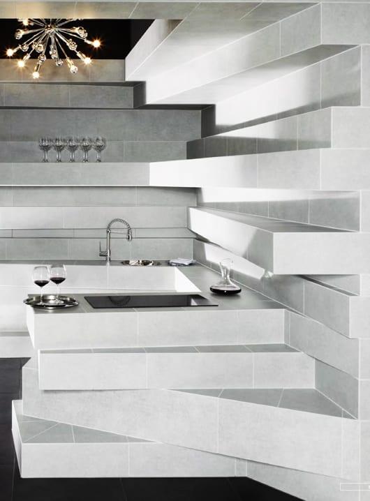 inneneinrichtung mit vliesen für kreative küchengestaltung in weiß