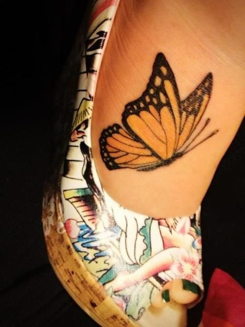 tattoovorlage schmetterling für fuß
