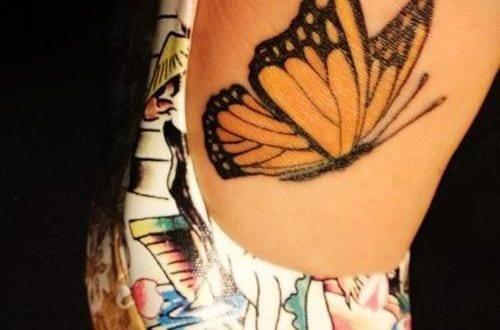 Interessante Tattoo Ideen Fur Fusstattoo Schmetterling Gelb