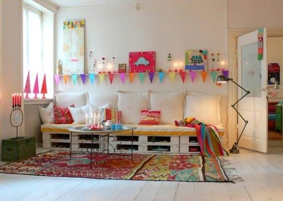 weißes sofa aus paletten fürs kinderzimmer Gestalten