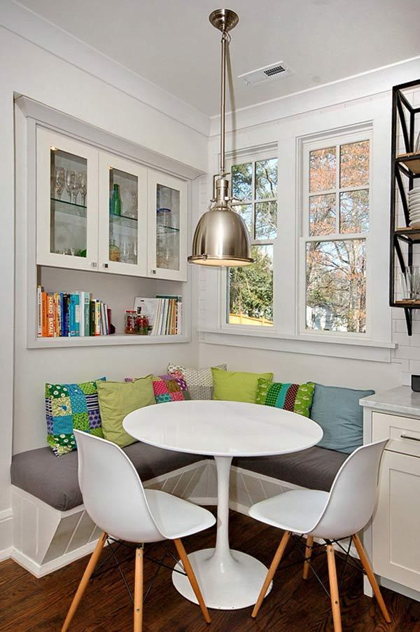 runde Esstisch weiß mit weißen stühlen und weißer sitzecke küche kombinieren