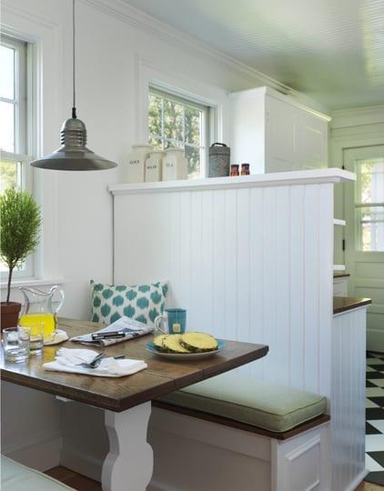 weiße sitzecke küche mit Esstisch massiv für kücheeinrichtung