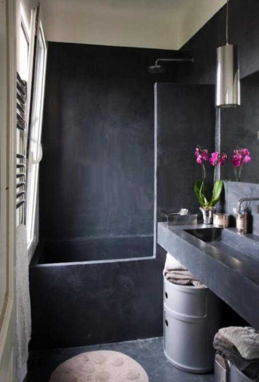 badezimmer ideen für kleine badezimmer aus beton