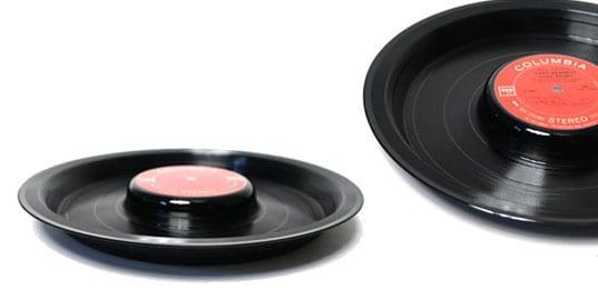 coole DIY Schallen aus schwarzen Schallplatten