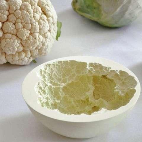kreative idee für Dekoration mit Obstschale in organischer Form