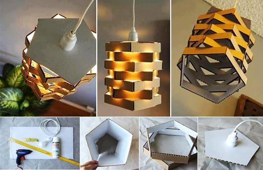 DIY lampe aus karton
