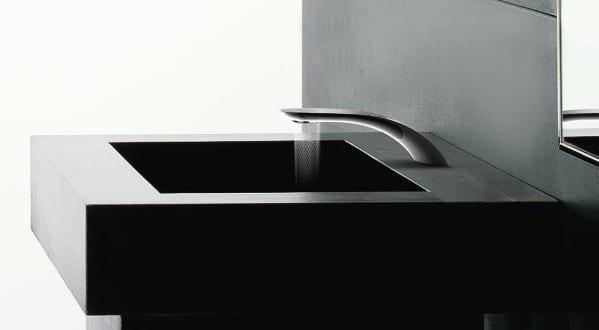 luxus badezimmer mit swirl wasserhahn modernisieren