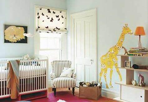 mädchen babyzimmer einrichten mit wandtattii giraffe und ...