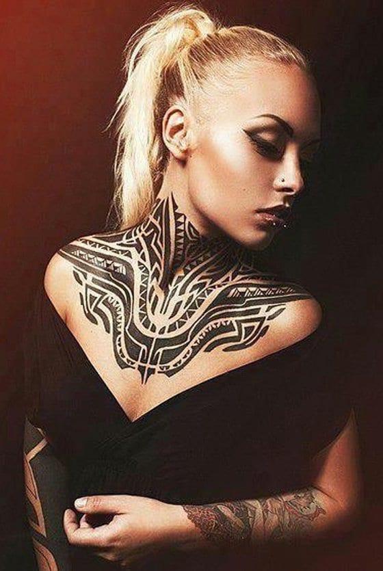 maori tattoo vorlagen für hals tattoo frauen