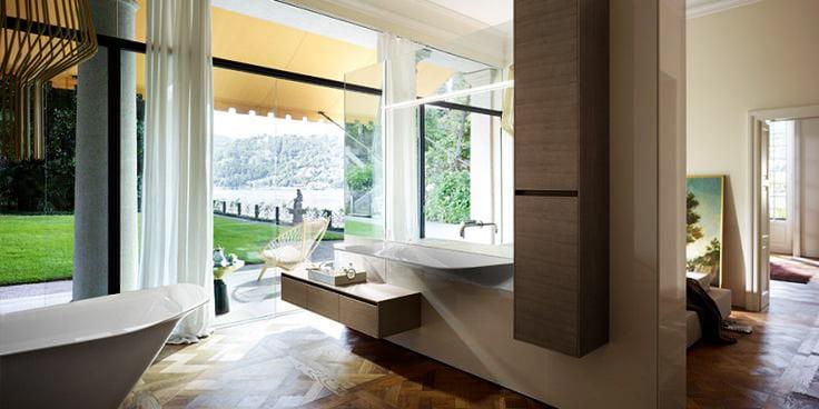 ideen für badezimmer im schlafzimmer mit parkett