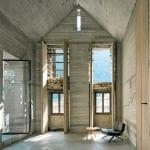umbauprojekt mit innenraumkörper aus betonbau