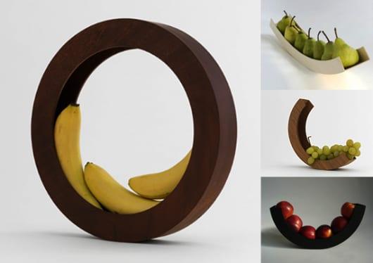 Obstschale Ring aus Holz für coole Tischdeko und Aufbewahrung von Früchten