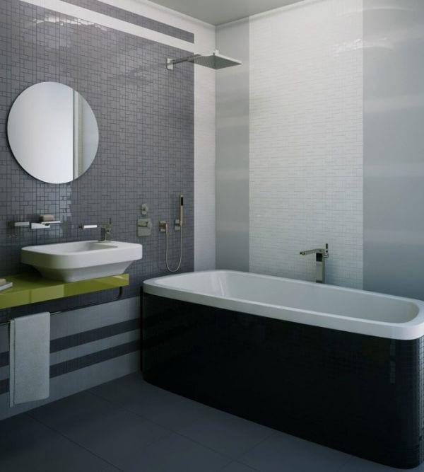 Badezimmer Grau - 50 Ideen für Badezimmergestaltung in Grau ... | {Badezimmer fliesen ideen grau 70}
