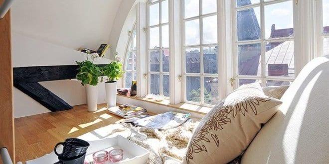 moderne wohnzimmer inspirationen mit wei em interior. Black Bedroom Furniture Sets. Home Design Ideas