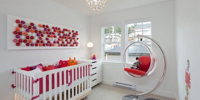 Modernes Babyzimmer modernes babyzimmer weiß mit hängestühl freshouse