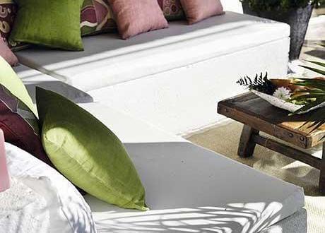 Nalkon Idee Mit Sitzecke Wei Und Grnen Kissen FresHouse