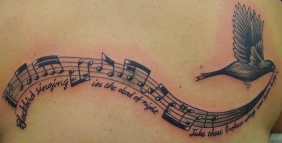 tattoo vorschläge notenlinien