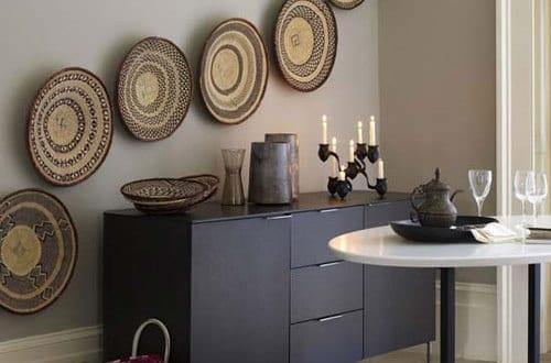 rattanschalen als kreative wandgestaltung freshouse. Black Bedroom Furniture Sets. Home Design Ideas