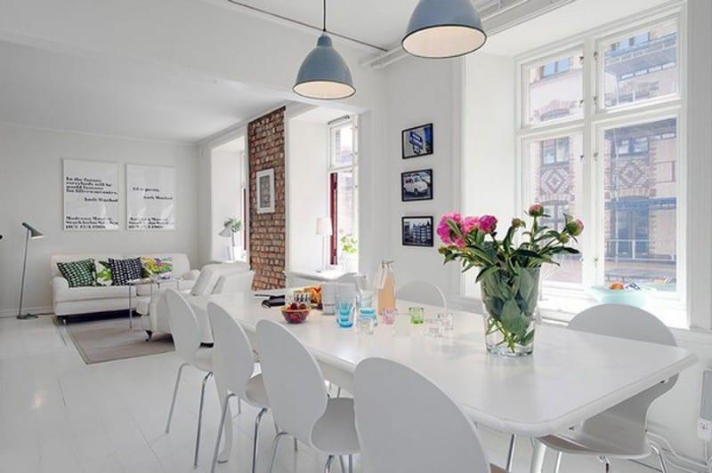 luxus wohnzimmer inspirationen mit esstisch weiß und weißen esszimmerstühlen aus holz
