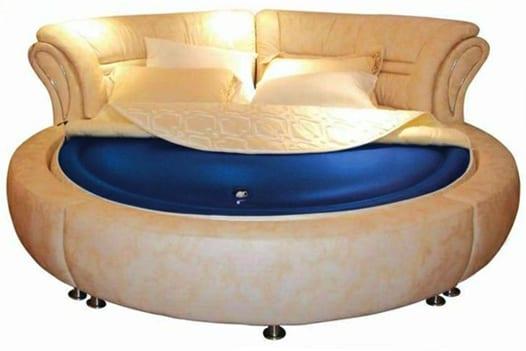runde wasserbetten für luxus schlafzimmer und himmlischen schlaf