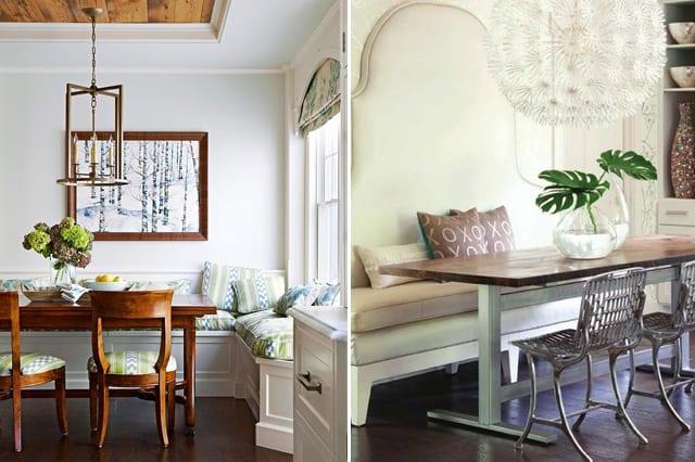 küche weiß mit sitzecke weiß verschönern und tischdeko ideen mit blumen