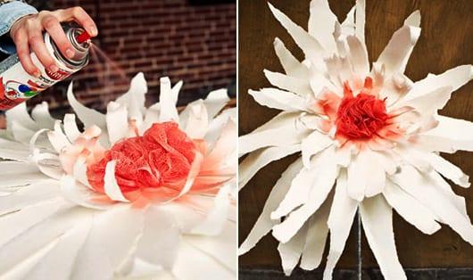 schöne-gartenidee-mit-DIY-Papierblumen-für-kreative-Gartengestaltung-und-Frühlingsdeko