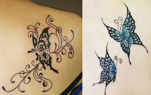 elegante schmetterling tattoo vorschläge