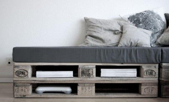 sofa aus europaletten grau mit grauen polstersitze