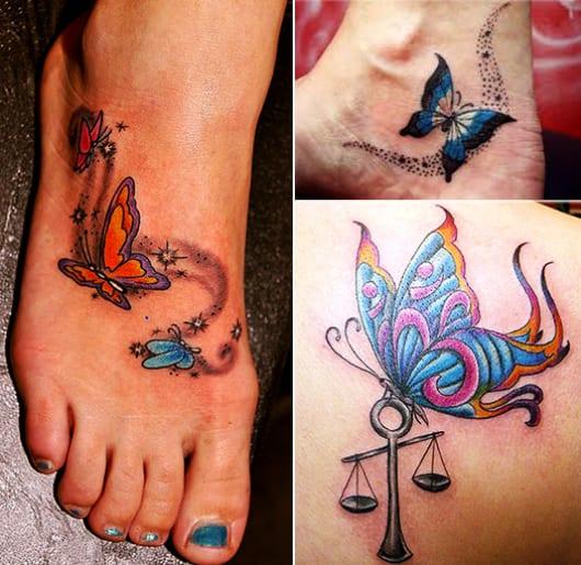 kleine Schmetterling tattoovorlagen