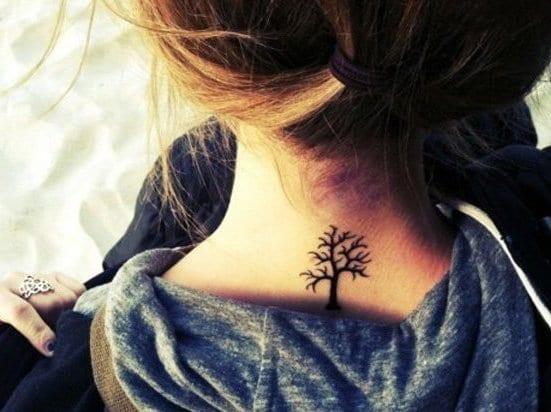 baum tattoo necken als kleine tattoos vorschläge