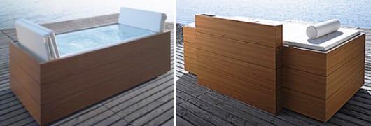 luxus badewanne design mit faltbarer abdeckung
