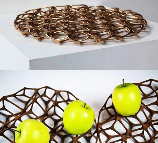 kreative idee für tischdekoration mit obstschale
