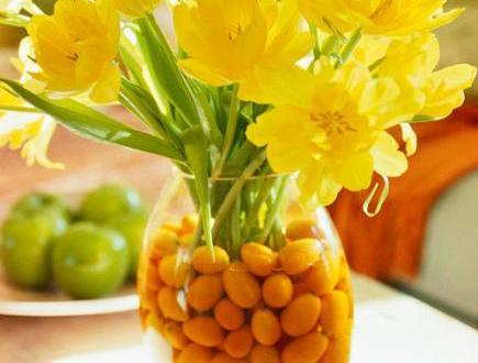 Tischdeko frühling tulpen  tischdeko frühling mit gelben tulpen und kumquats - fresHouse
