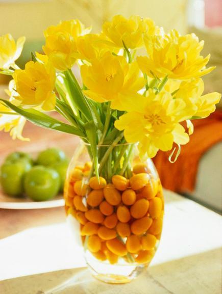 dekoideen frühling in gelb