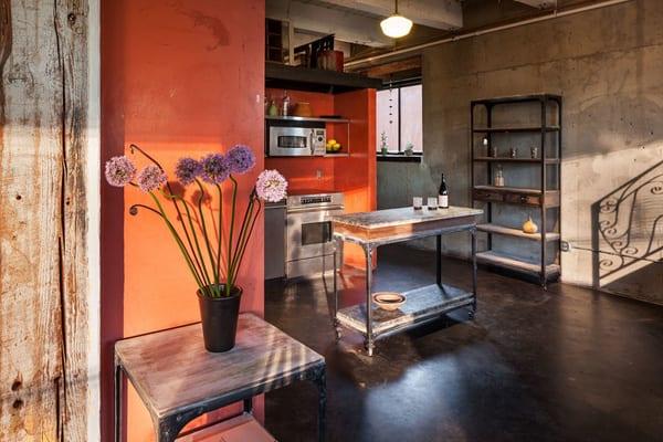 farbgestaltung küche mit regalsystem zum aufbewahren