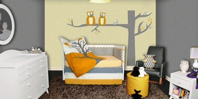 wandtattoo kinderzimmer baum und eule f r wanddeko babyzimmer von snuggleberry baby freshouse. Black Bedroom Furniture Sets. Home Design Ideas